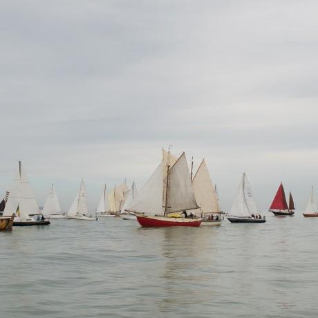 zicht op schepen klassieke vloot